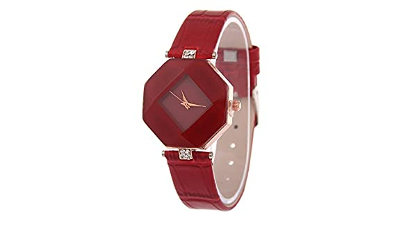 462338c28 Buy V2A Red Diamond Shape Design Analog Watch for Women and Girls Online at Low  Prices in India - Amazon.in