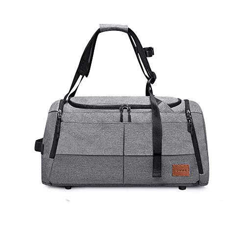 DINOKA Bolsa Deportiva 50L, Bolsa Deporte, Bolsas Gimnasio Mujer y Hombre de Grande Viaje Impermeable Compartimento para Zapatos,Separada en Seco y Húmedo Bolsos de Viaje Deportivos Grande