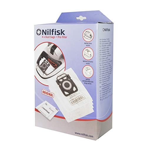 Nilfisk 107407940 Bolsas Aspirador, Blanco