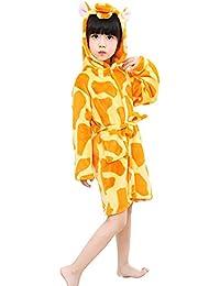 Mystery&Melody Niños Unicornio Bata de baño Franela Encapuchado Pijama Cosplay Disfraces Animales Vestirse Unisexo