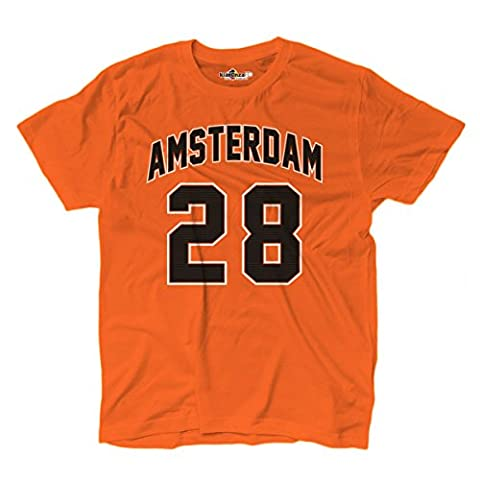 Dope Blu Ray - T-Shirt hommes Amsterdam 28 Orange