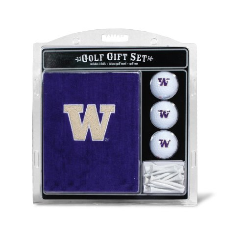 Team Golf NCAA Besticktes Handtuch Geschenk-Set, Washington Huskies
