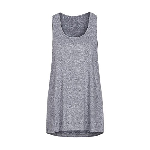 TUDUZ Damen Yoga Sport Tank Top Rückenfrei Fitness Baumwolle Tanktop Oberteil Armellos Shirt Sweatshirt Chiffon Tie Dye Tie
