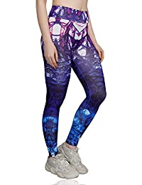 iSweven High Waist Stretchable Yoga Pants for Women Gym - Multicolor (6045, Available in 4 Sizes)