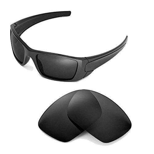 Walleva Ersatzgläser für Oakley Fuel Cell Sonnenbrille - Mehrfache Optionen (Schwarz)