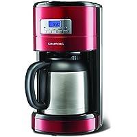 Grundig, KM 6330 T, Macchina per caffè programmabile, 1000 W, con caraffa termica, 8 tazze, 1,2 litri di capacità, colore: Rosso