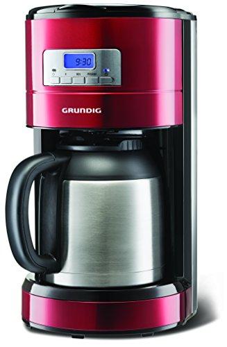 Grundig kM 6330 t 1000 w cafetière programmable avec verseuse isotherme, capacité 8 tasses, capacité :  sense rouge 1,2 l