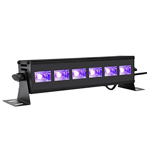 (Viugreum UV Licht 18W UV-Röhre Komplettset für Parties Halloween Weinachten das fluoreszierende Pigment beleuchten)