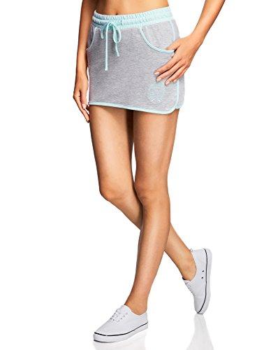 oodji Ultra Damen Jersey-Rock im Sport-Stil, Grau, DE 34 / EU 36 / XS