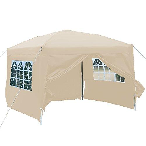 Goplus Tente de Jardin avec des Fenêtres Visuelles Tente de ...