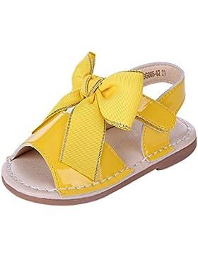 Pettigirl Mädchen Bogen Sandalen Flache Fersen Kinder Sommer Party Hochzeit Baby Schuhe