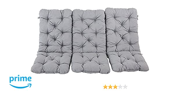 Ambiente Casa Set di 2 schienale alto cuscino sedia pad cuscino cuscino pad sedia giardino verde