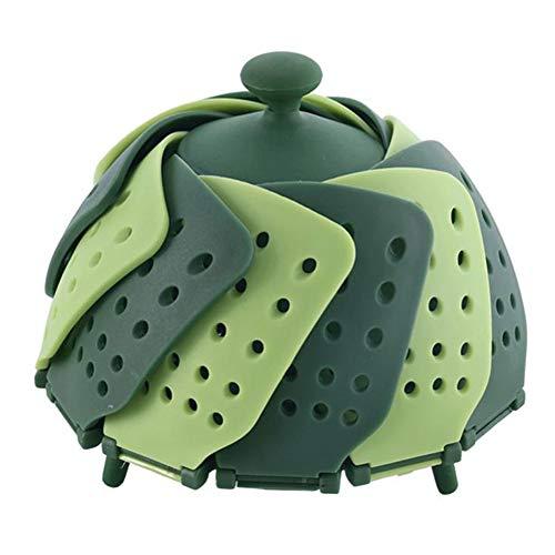 DGTRHTED Vapor Vegetal - Vapor Plegable de Silicona Fruta Verde Cesto para Verduras Placa Vegetal para Cocina Herramienta de Cocina