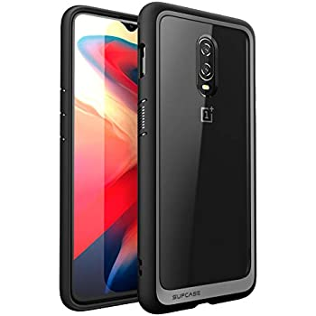 new concept 1fa0f 29a8b SUPCASE Hybrid Protective Clear Case for OnePlus 6T (Black), Not for  OnePlus 7