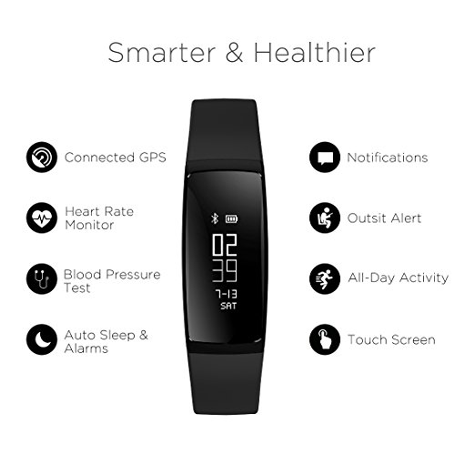 Wireless-Fitness-Tracker-Tonbux-Upgraded-Smart-Watch-Wristband-Heart-Rate-Monitor-Blood-Press-Monitor-OLED-Pedometer-Bluetooth-40-for-Outdoor-Running-Walking-For-IOS-Android-Smart-Phone