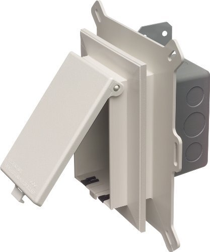 Arlington DSBHS1C-1 Metal Electrical Box with Non-Metal Cover for New Vinyl Siding Installation, Clear, Horizontal/1-Gang by Arlington Industries -