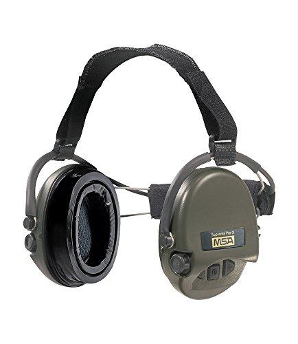 MSA Sordin Supreme Pro X - Neckband - Profigehörschutz, inkl. Gelkissen, Ausführung: grüne Cups, AUX Eingang (Gehörschutz Msa)
