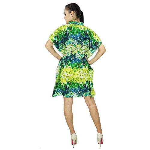 ... Bimba femmes Bohême coton Kaftan Robe imprimée court indienne Caftan  Taille Plus vêtements de plage Couleur ... 069571cd552