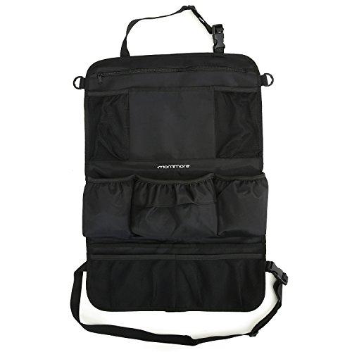 mommore Auto Organizer Rückenlehnenschutz mit iPad Tablet Fach für Kinder Rücksitztasche Mehrfachabteil