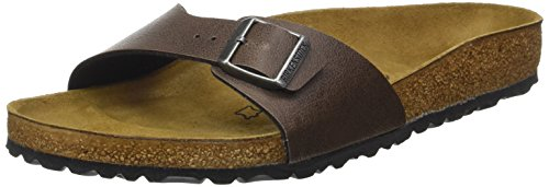 Birkenstock Herren Madrid Pantoletten, Braun (Pull Up Brown), 45 EU