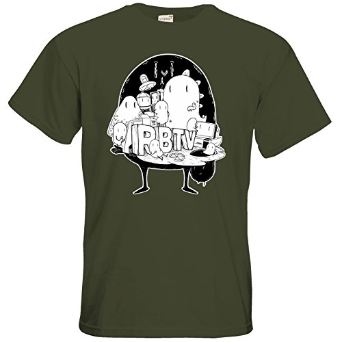 getshirts - Rocket Beans TV Official Merchandising - T-Shirt - Brains Khaki