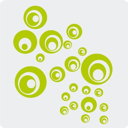 Preisvergleich Produktbild 21 Retro-Punkte-Aufkleber zur Dekoration von Autos,  Motorrädern,  Fahrrädern und allen anderen Fahrzeugen; aus 14 Farben wählbar; Grün