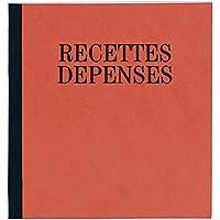 Exacompta - Réf. 930E - Piqûre Recettes-Dépenses - 21x19cm - 80 pages - Couleur Aléatoire