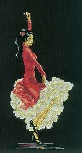 Kit broderie pour point de croix Motif danseuse flamenco