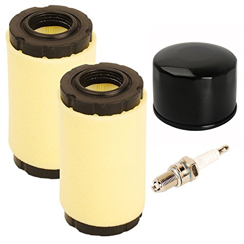 OxoxO 793569 793685 Air Pre Filter 696854 Oil filter with spark plug for Briggs & Stratton Intek Series 20-21 gross HP Lawn Mower Tractor -