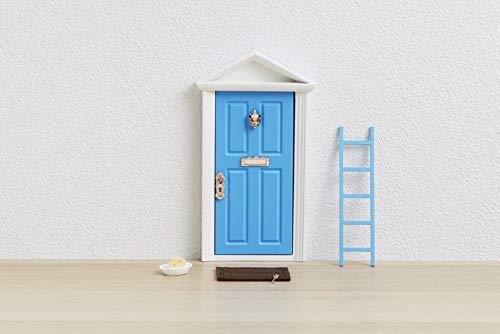  Ratoncito Pérez : Puerta Mágica Azul + Escalera + Plato + QUESO + Felpudo + Llave + Dibujo Fondo de Puerta + Postal de Felicitación+ dibujo para anotar y pintar las fechas de los dientes caídos