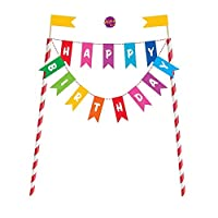Ayush party Rainbow Birthday Cake Bunting Topper