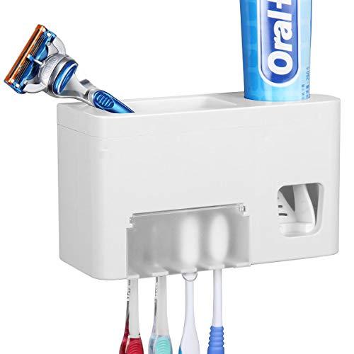 Dispensador de pasta de dientes automático y soporte para cepillo de dientes–Kids Touchless dispensador de pasta de dientes