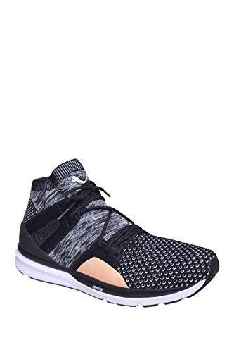 Puma-Mens-B-O-G-Limitless-Hi-Evoknit-Black-White-Shoes