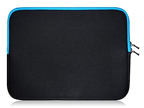 Sweet Tech Black / Blue Neoprene Case Cover Sleeve suitable for Odys Ace / Aviator / Evo / Genio / Intellitab / Motion / Opos / Oxygen 7 inch Tablet PC