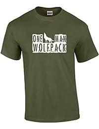 One Man Wolfpack Hoodie - Khaki Green - XX-Large