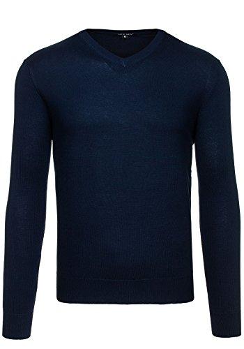 NEW MEN Herrenpullover Pulli Sweatshirt Sweatjacke Sweater Top 9021 Dunkelblau