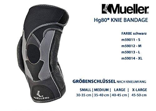 Mueller HG80-Rodillera Articulación Negro L Tipo: