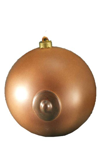 Forum Novelties Erwachsene Neuheit Holiday Ornament, braun Boob Ball