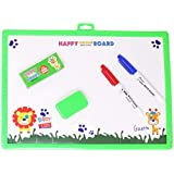 Parteet Educational 2 in 1 Slate with White and Black Board for Kids