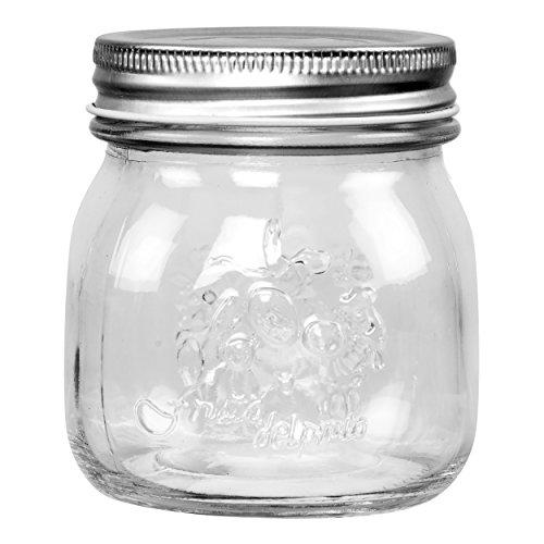 Saveur et Degustation KS9206 Bocal à Confiture Verre Transparent 9 x 8 x 8 cm 250 ml,lot de 6