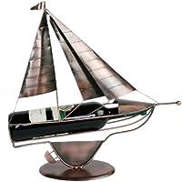 """Flaschenhalter """"Segelboot"""" kupferfarben L 44 cm"""