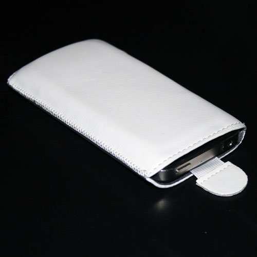 Handytasche passend für LG D505 Optimus F6 Handy Schutz Hülle Slim Case Cover Etui weiss (x1) (Case F6 Lg Handy)