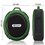 HENGKANG Mini Portable Bluetooth -Lautsprecher (3,5 mm Audio, Mikrofon, Drop, Wsserdicht, Saubdicht, Sprachaufforderung, Anruffunktion, UKW-adio,MicroSDKartensteckplatz),Green