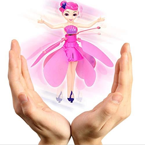 Daxoon Muñeca de Hada voladora, Juguetes a Control Remoto para niños, Juguete de Control Remoto para niñas, de Lujo, Hada Flutterbye (Regalo para niñas)