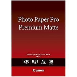 Canon PM-101 Papier Photo Premium Mat Format A3 (20 feuilles)