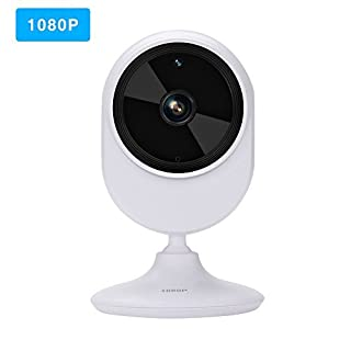 Virtoba IP Camera, HD 1080P WiFi Home Security Camera Wide Angle View Indoor Wireless Surveillance Camera for Baby Elder Pet Care Monitor with Night Vision, Two Way Audio, P2P, Onvif - White
