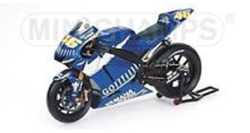 Minichamps - modellino moto yamaha yzr-m1 (valentino rossi 2005) in scala 1:12, colore: blu