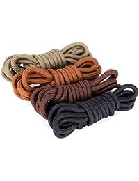 Saron- Laces de encerados, colores, multicolores, redondas - Zapatos de cordones para Business. 80~140 cm de largo, 5 mm de diámetro (100 cm, El negro)