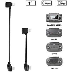 O'woda Mis à Jour Micro USB à iOS 【i Phone/i Pad】 OTG Câble de données Transfert d'image vidéo tressé en Nylon Câble pour DJI Mavic Pro/Spark/Mavic Air/Mavic 2 Pro & Zoom/Mavic Mini