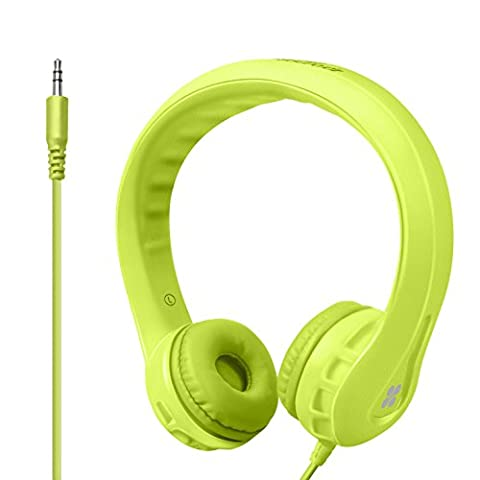 Promate Flexure Kids Headphones With Volume Limiter Stereo Sound Soft Cushion Ear Cups and Passive Noise Cancellation